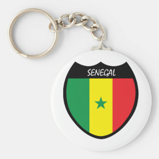 I Love Senegal Basic Round Button Key Ring