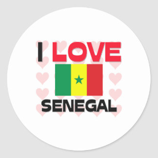 I Love Senegal Classic Round Sticker