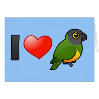 I Love Senegal Parrots Card