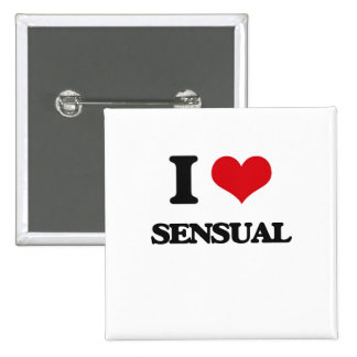 I Love Sensual 2 Inch Square Button