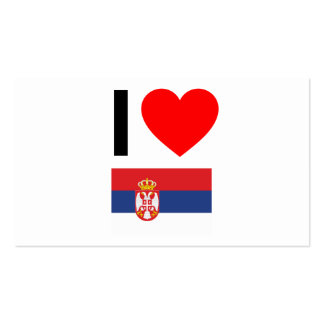 i love serbia business card templates