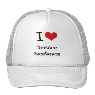 I love Service Excellence Mesh Hats
