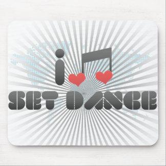 I Love Set Dance Mouse Pad