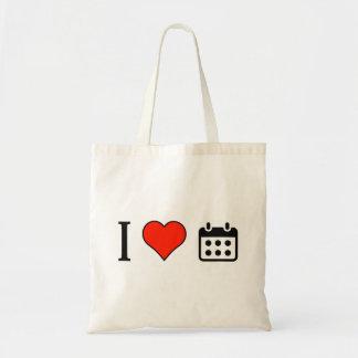 I Love Setting Schedule Budget Tote Bag