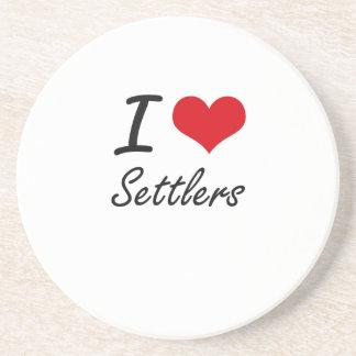 I Love Settlers Beverage Coaster