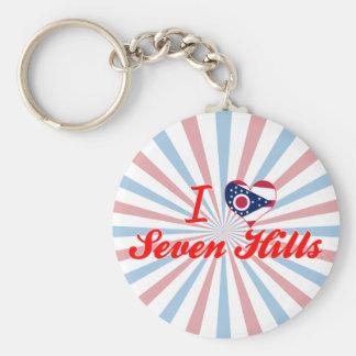 I Love Seven Hills Ohio Keychain