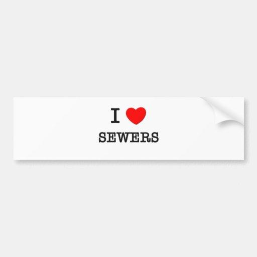 I Love Sewers Bumper Sticker