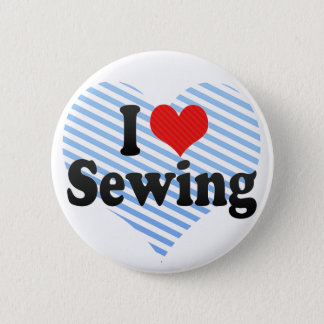 I Love Sewing 6 Cm Round Badge