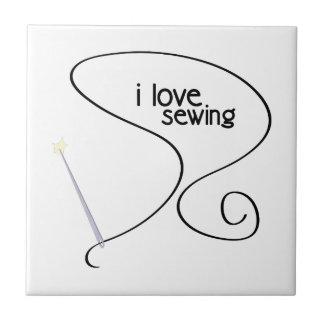 I Love Sewing Ceramic Tiles
