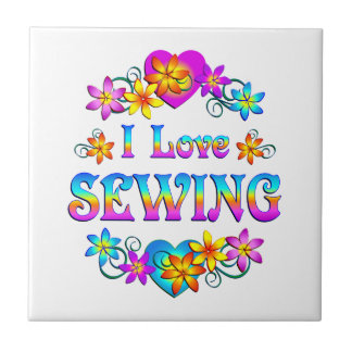 I Love Sewing Tile