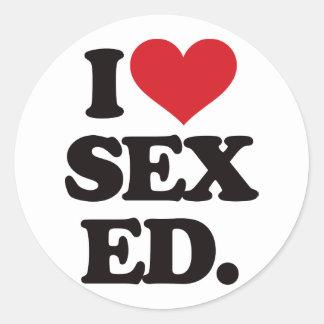 I Love Sex Education (Ed.) Round Sticker