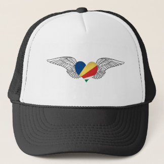 I Love Seychelles -wings Trucker Hat