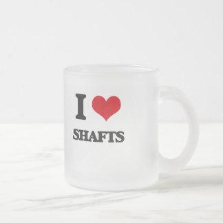 I Love Shafts Frosted Glass Mug