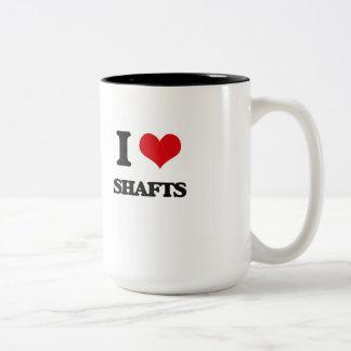 I Love Shafts Two-Tone Coffee Mug