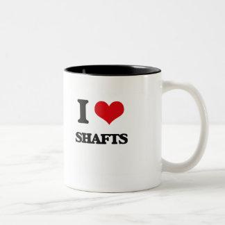 I Love Shafts Two-Tone Mug