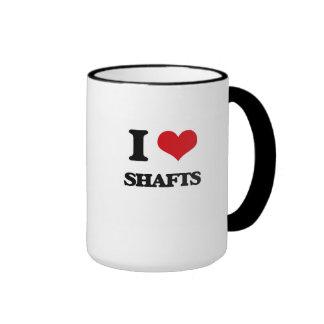 I Love Shafts Ringer Coffee Mug
