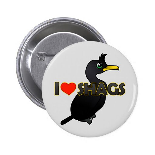 I Love Shags Pinback Buttons