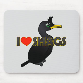 I Love Shags Mouse Pads