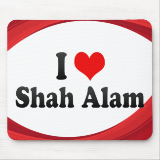 I Love Shah Alam Malaysia Mousepad