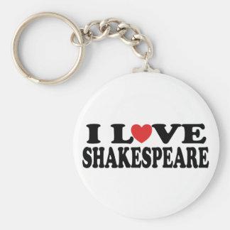 I Love Shakespeare Gift Key Ring