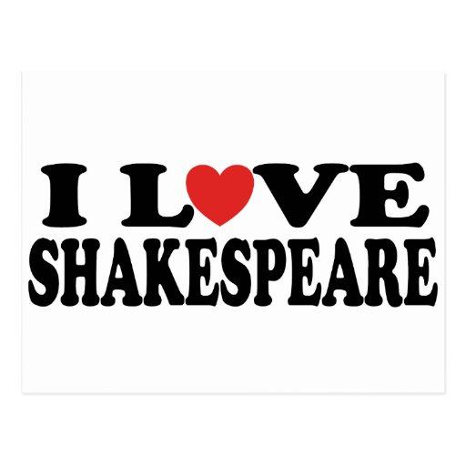 I Love Shakespeare Gift Post Cards