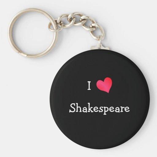 I Love Shakespeare Key Chain
