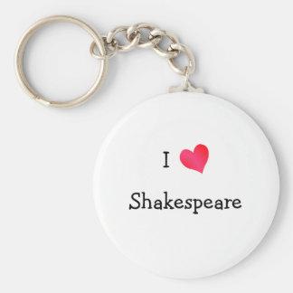 I Love Shakespeare Key Ring