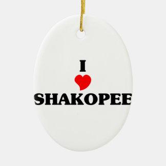 I love Shakopee Ceramic Oval Decoration