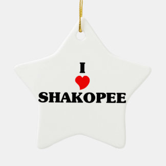 I love Shakopee Ceramic Star Decoration