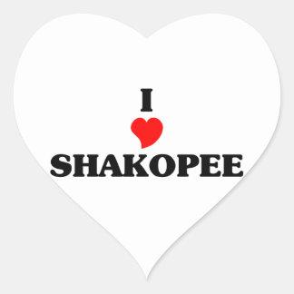 I love Shakopee Heart Sticker