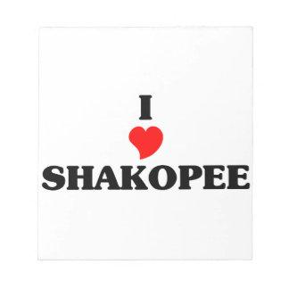 I love Shakopee Memo Notepads