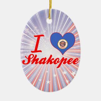 I Love Shakopee, Minnesota Ceramic Oval Decoration