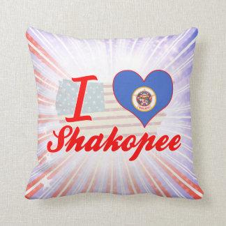I Love Shakopee, Minnesota Throw Pillow