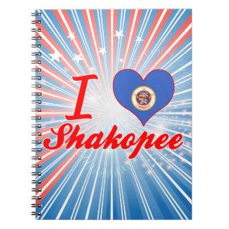 I Love Shakopee, Minnesota Spiral Notebooks