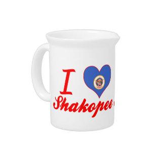I Love Shakopee, Minnesota Beverage Pitcher