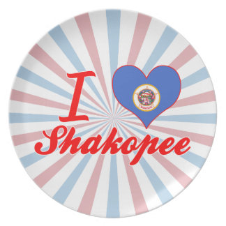 I Love Shakopee, Minnesota Plates