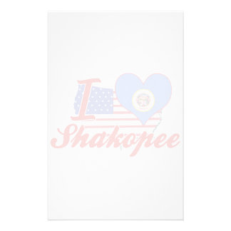 I Love Shakopee, Minnesota Personalized Stationery