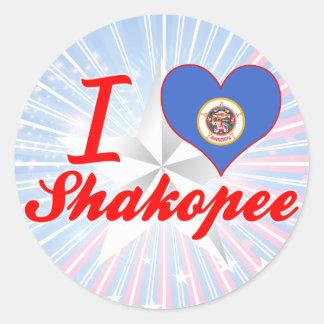 I Love Shakopee, Minnesota Round Stickers