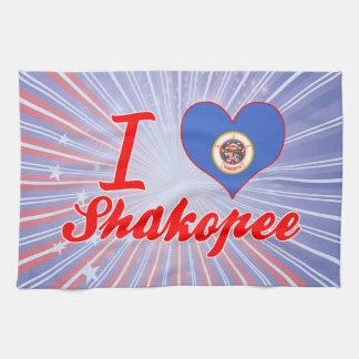 I Love Shakopee, Minnesota Towels