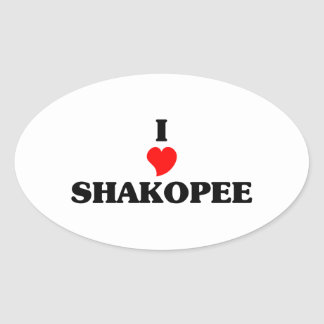 I love Shakopee Oval Sticker