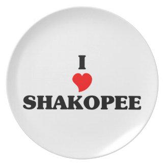 I love Shakopee Party Plate
