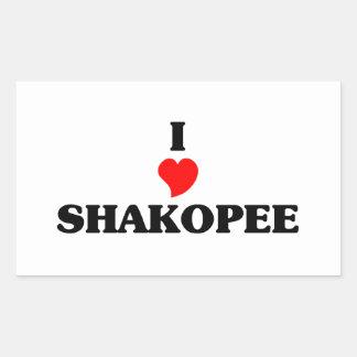 I love Shakopee Rectangular Sticker