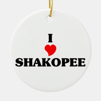 I love Shakopee Round Ceramic Decoration