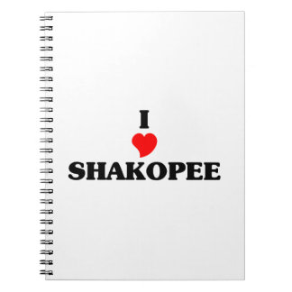 I love Shakopee Spiral Notebook