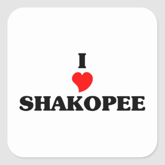 I love Shakopee Square Sticker