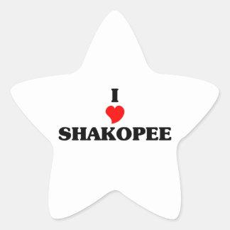 I love Shakopee Star Sticker