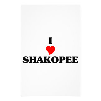 I love Shakopee Personalized Stationery