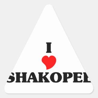 I love Shakopee Triangle Sticker