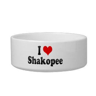 I Love Shakopee, United States Cat Food Bowl