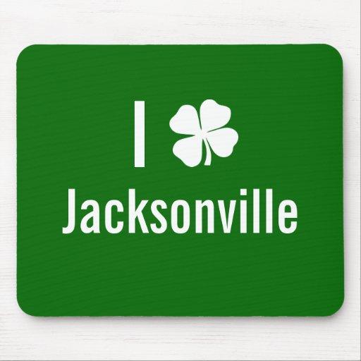 I love (shamrock) Jacksonville St Patricks Day Mouse Pad